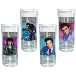 Elvis 35th Anniversary Glasses Set of 4