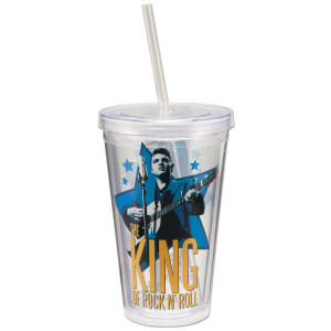 Elvis Star Acrylic 18 oz. Travel Cup