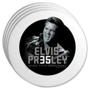 Elvis 35th Anniversary '68 Coasters Set of 4