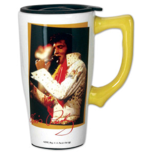 Elvis Aloha Ceramic Travel Mug
