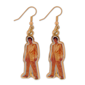 Elvis Gold Lame Earrings