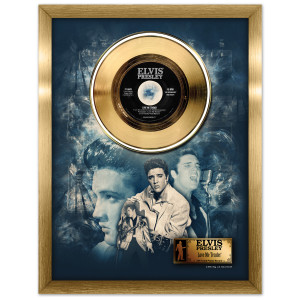 Elvis Love Me Tender Framed Gold Record
