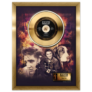 Elvis Hound Dog Framed Gold Record