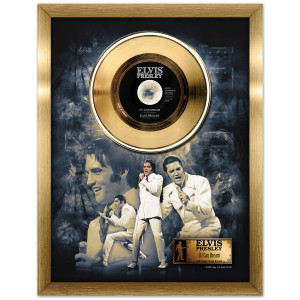 Elvis If I Can Dream Framed Gold Record