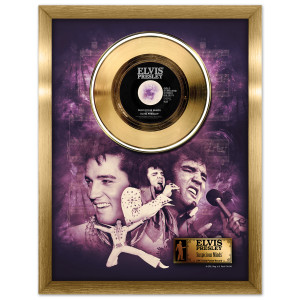 Elvis Suspicious Minds Framed Gold Record