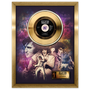 Elvis In the Ghetto Framed Gold Record