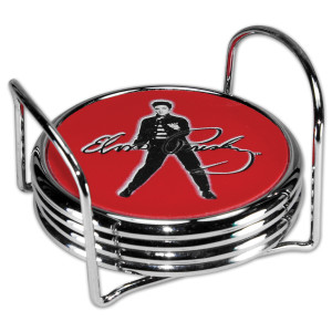 Elvis Jailhouse Rock 4 Piece Metal Coaster Set