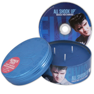 Elvis All Shook Up Scented 14oz Candle & DVD