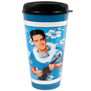 Elvis Blue Hawaii 32oz Travel Mug