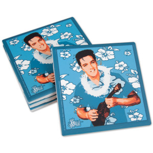Elvis Blue Hawaii Ceramic Coasters Set of 4