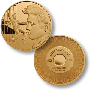Elvis Jailhouse Rock 1957 MerlinGold Coin