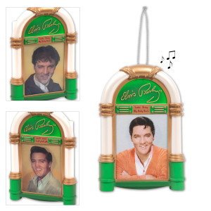 Elvis 'Santa Bring My Baby Back' Jukebox Ornament