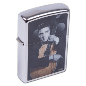 Elvis Colorized Guitar Zippo