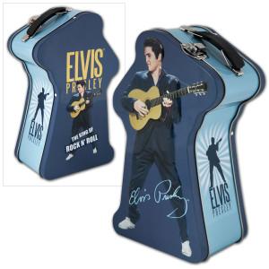 Elvis Presley Silhouette Embossed Tin Tote