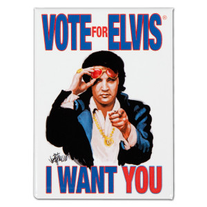 Elvis Vote Magnet