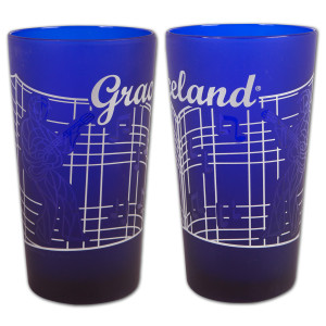 Graceland Gates Frosted Cobalt Pint
