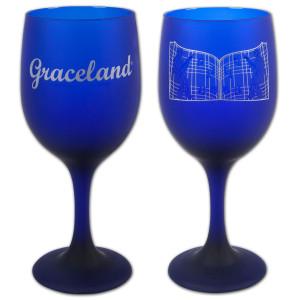 Graceland Gates Frosted Cobalt Goblet