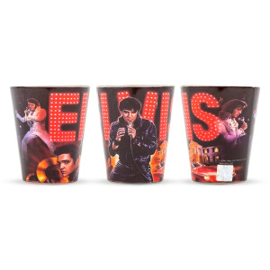 Elvis Collage Shot Glass