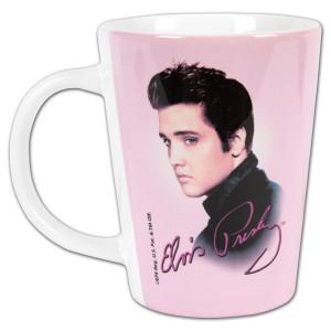 Elvis Pink Foil Latte Mug