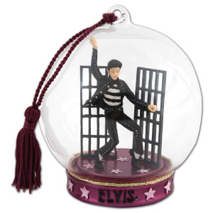 Elvis Jail House Rock Globe Ornament
