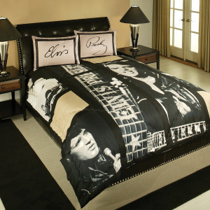 Elvis Presley Guitars Queen Size Comforter Set