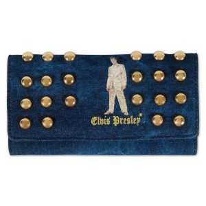 Elvis Gold Lame Studded Wallet