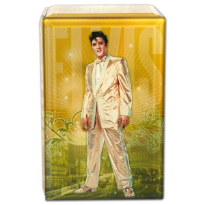 Elvis Gold Glass Music Box