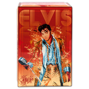 Elvis Red Glass Music Box