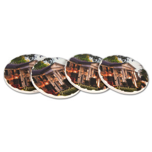 Elvis Graceland Round Tile Coaster Set (4)