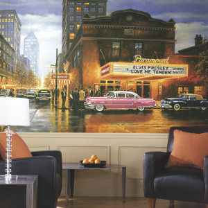 Evening at the Paramount Wallpaper Mural 10.5' x 6'