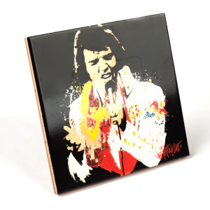 Elvis - White Suit Ceramic Tile