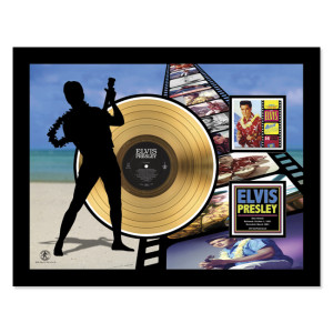 Elvis Blue Hawaii - Gold LP Framed Memorabilia