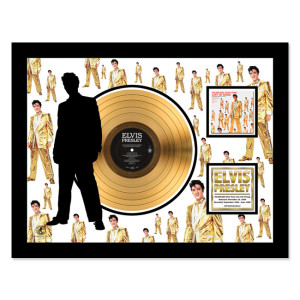 Elvis 50,00 Fans Can't Be Wrong - Gold LP Framed Memorabilia