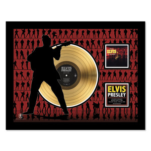 Elvis In Memphis - Gold LP Framed Memorabilia