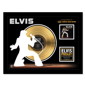Elvis Recorded at MSG- Gold LP Framed Memorabilia