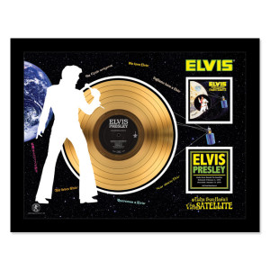 Elvis Aloha From Hawaii via Satellite - Gold LP Framed Memorabilia