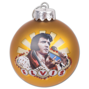 Elvis Presley - Viva Las Vegas 80mm Glass Ornament