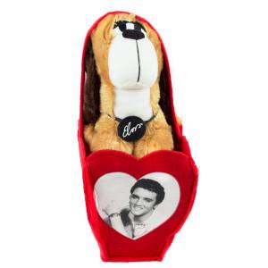Elvis Presley - Valentine's Hound Dog Plush in Felt Bag