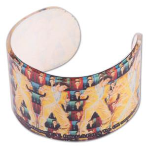 Elvis Gold Lame Acrylic Bracelet