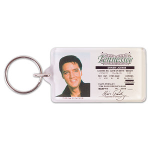 Elvis Presley Drivers License Keychain