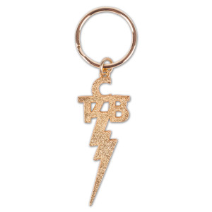 Elvis Gold TCB Keychain