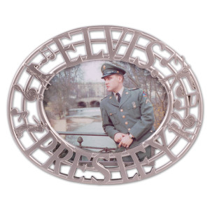 Elvis U.S. Army Pewter Frame