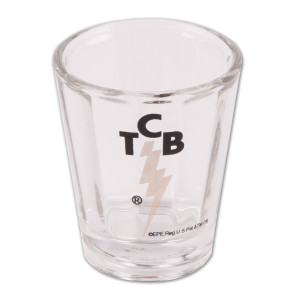 Elvis TCB Optic Shotglass