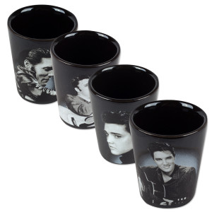 Elvis - 4 pc. Ceramic Shot Glasses
