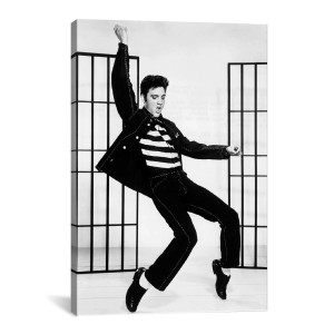"Elvis Jailhouse Rock Canvas Print 40"" x 26"""