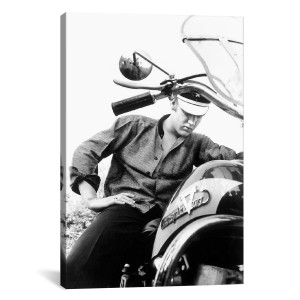 "Elvis Wertheimer Collection Harley Davidson Motorcycle Canvas Print 40"" x 26"""