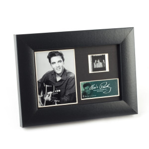 Elvis and His Guitar Framed Filmstrip Presentation