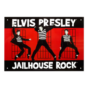 Elvis Jailhouse Rock 8x11.5 Tin Sign