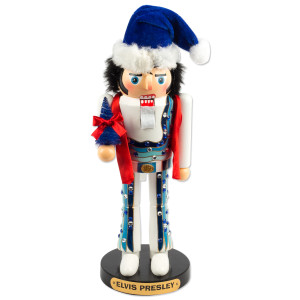 Elvis Blue Jumpsuit Nutcracker