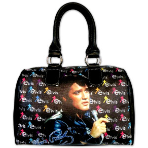 Elvis Signature Block Purse